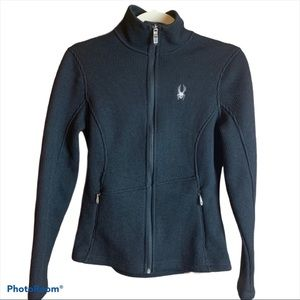 Spyder Ribbed Full Front Zip Core Sweater Sz Small